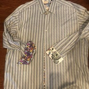 3XL Robert Graham print casual shirt
